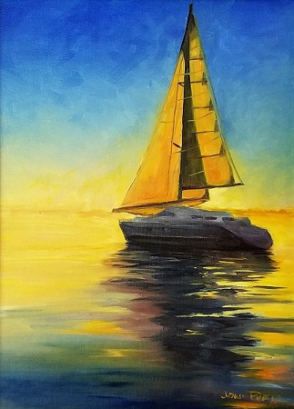 Come Sail Away - 16x12 oil on canvas framed