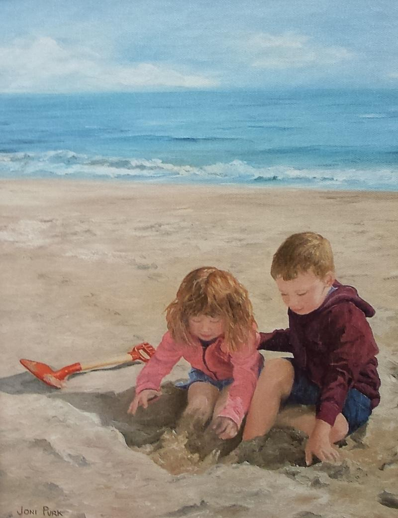 Lending A Helping Hand - giclee on canvas from original oil - 11 x14