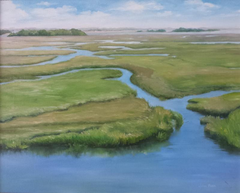 Marsh 2 - giclee on canvas - from original oil - 12 x 16 (1 of 1)