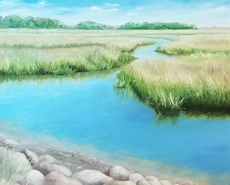 Marsh I - giclee on canvas - 16 x 20