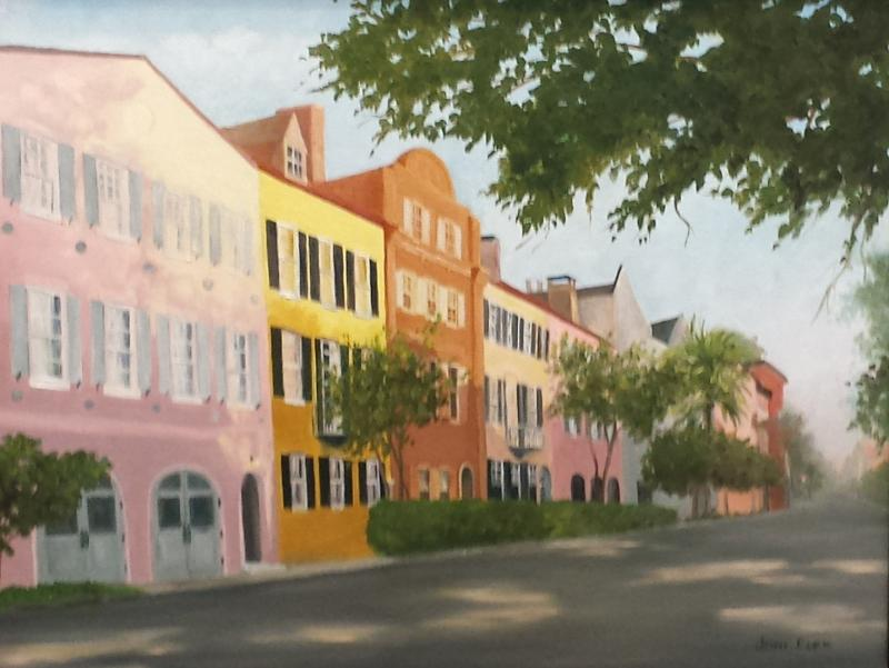 Rainbow Rising - Charleston - giclee on canvas from original oil - 16 x 20
